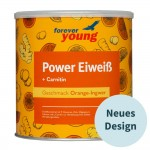 forever young power eiweiß Dose Orange-Ingwer