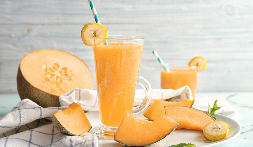 Cantaloup-Melonen-Cocktail