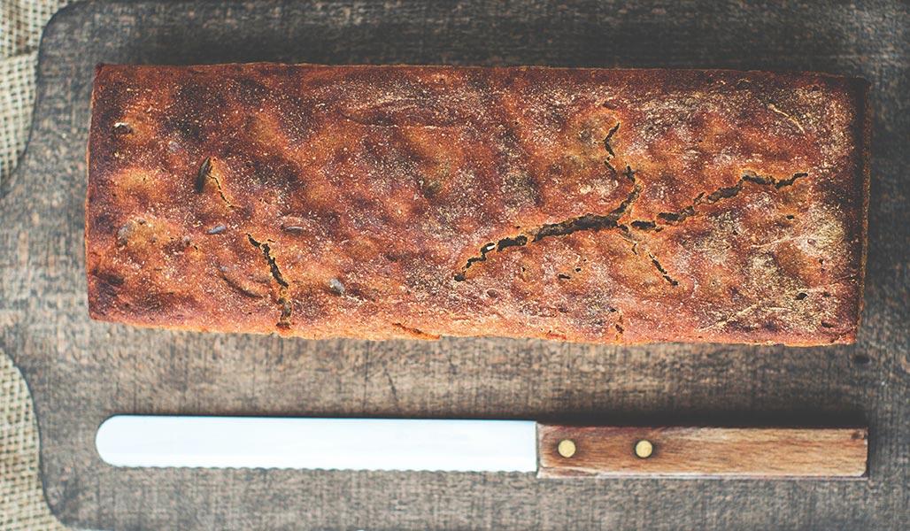 Eiweiß-Walnuss-Brot