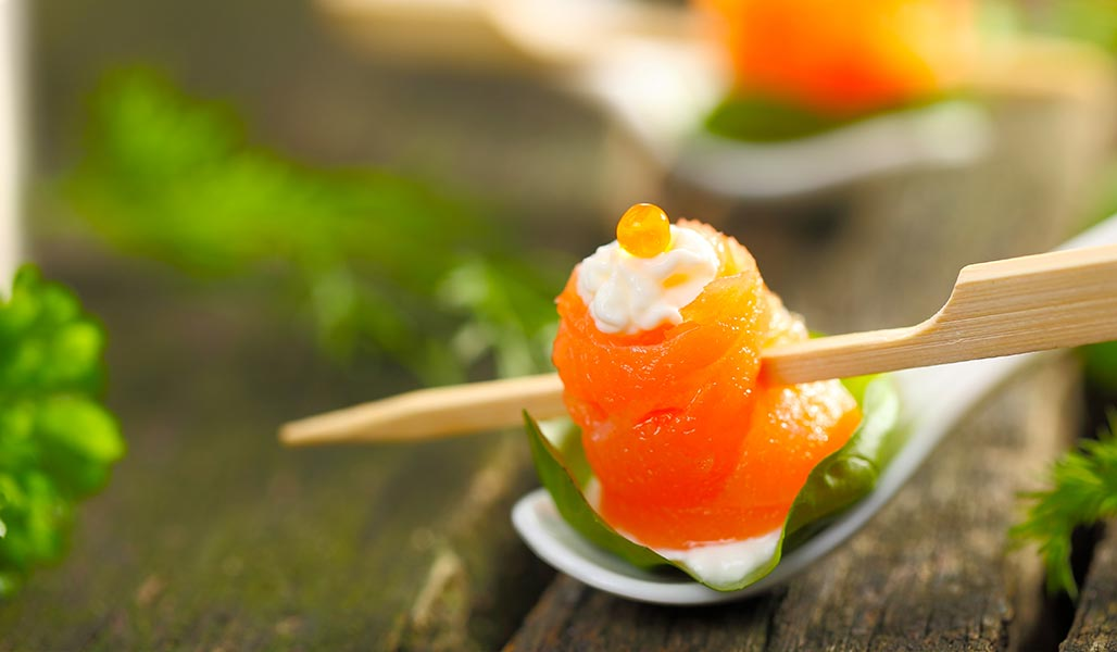 Lachs-Sushi
