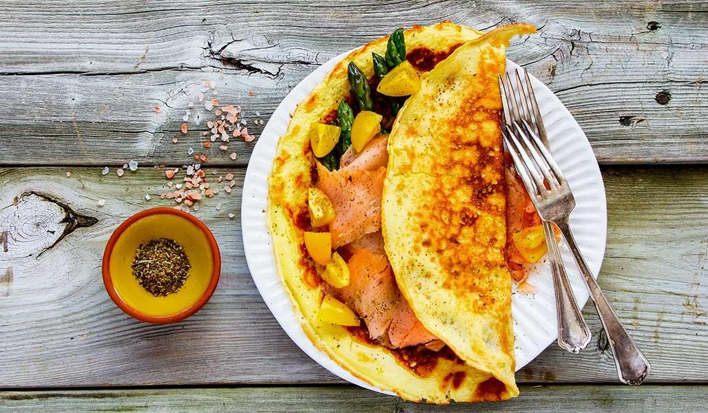 Räucherlachs-Omelett