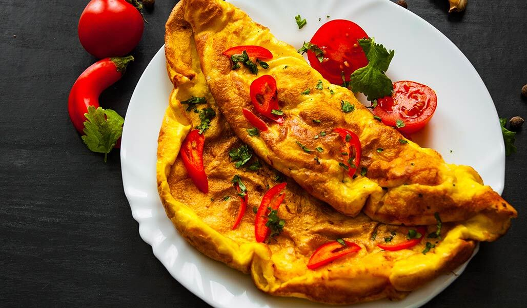 Sesam-Tofu-Omelette